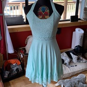 Hollister Open Back Dress. A mint color.